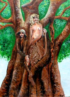 La Femme Fatale's of  the Tree. $220 SOLD