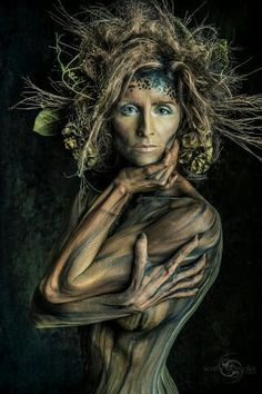 body paint tree how to make - Buscar con Google