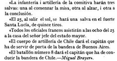 Detalles y organización de la ceremonia según Michel BRAYER el 25 de mayo .....