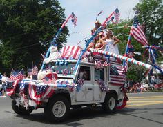 Orleans, Cape Cod, Massachusetts [Source Orleanscapecod.org] -- #CapeCod #Massachusetts #USA #NorthAmerica  #Vehicles #Patriotic #Patriotism #IndependenceDay #4thofJuly #FourthofJuly #JulyFourth #July4th