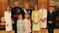 Lo Reyes de España Felipe VI y Letizia