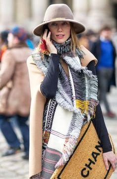 Anya Ziourova Street Style PFW 2