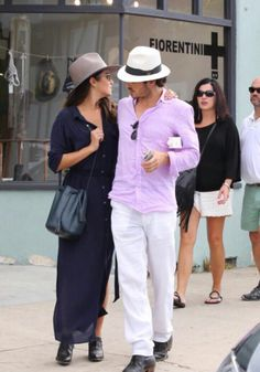 Nikki Reed and Ian Somerhalder out & about enjoying a walk together