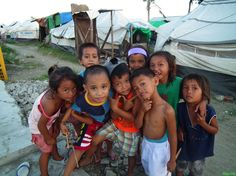 Despite of all the tragedies, these children are still showing their jolliness.