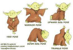 Yoda Yoga...seriously love this