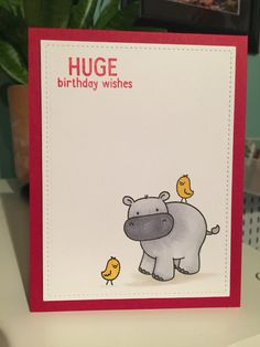 Lincoln's Inkin' and today's super SUPER simple card share. Today I am sharing a birthday card that uses. Birthday Wishes, Birthday Cards, Super Simple, I Card, About Me Blog, Stamp, Happy, Projects, Anniversary Cards