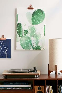The Aestate Green Paddle Cactus Art Print - Urban Outfitters