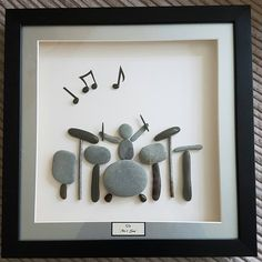 My pebble drummer was a big hit! #pebbleart #pebbles #drums #drumming