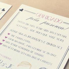 Sou apaixonada por papelaria de casamento *-* e esse está perfeitamente perfeito!