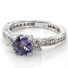 """Repinning this because my mom pinned it and didn't see the description which was: """"i want this shit...purple sapphire engagement ring"""" LOL she said """"shit"""""""
