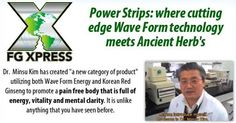 Meet Dr. Kim creator of the FG Xpress Power Strips and learn about the amazing technology and science behind the product. Link to Video: http://www.fgxteam.com/blog/power-strips