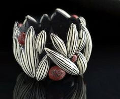 Flower Pod Bracelet by BETTINA WELKER | Polymer Clay Planet