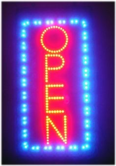 Open Vertical LED Light Animated Neon Sign 19*10 by FastVibes. $35.00. Save 50% Off!