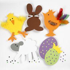 Skabeloner til påskeklip i karton Visual Art Lessons, Art For Kids, Crafts For Kids, Easter Templates, Pin Cushions, Flower Pots, Art Projects, Birthdays, Paper Crafts