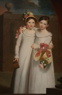 The Ragan Sisters, oil on canvas, 1820, Jacob Eichholtz (American, 1776-1842), National Gallery of Art, Washington DC., 2012.