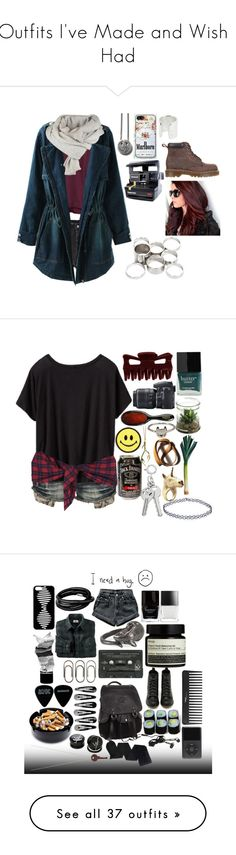 """""""Outfits I've Made and Wish I Had"""" by bunnybear02 ❤ liked on Polyvore featuring Ksubi, H&M, Dr. Martens, Samsung, Maya Magal, Polaroid, Missguided, Crafted, Athleta and Nikon"""