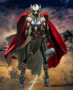 "THOR ""JANE"" Marvel Heroes, Marvel Dc, Marvel Comics, Marvel Comic Character, Marvel Characters, Lady Sif, Lady Thor, Comic Books Art, Comic Art"