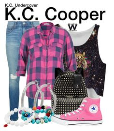 """""""K.C. Undercover"""" by wearwhatyouwatch ❤ liked on Polyvore featuring Rebecca Minkoff, maurices, Valentino, M&Co, Dee Berkley, Converse, television and wearwhatyouwatch"""