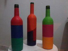 Mais garrafas decoradas!! (minha arte)