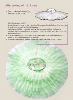 Pancake tutu, patterns plus tutorial