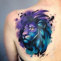 Feb 2020 - If you want the daily new design on your skin then you can easily achieve that with watercolor tattoo designs. Get amazing inspirations for your next tattoo design. Aquarell Tattoos, Kunst Tattoos, Leo Tattoos, Bild Tattoos, Body Art Tattoos, Forearm Tattoos, Watercolor Lion Tattoo, Watercolor Tiger, Watercolor Tattoo Shoulder
