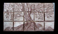 Unalun Tile carved, not yet bisqued.