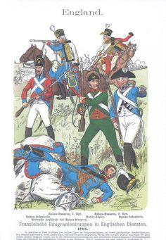 Band IV #58.- England. Französische Emigranten-Truppen in englischen Diensten. 1795.