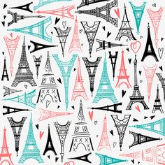 Margaret Berg Art: Paris Eiffel Towers Pattern
