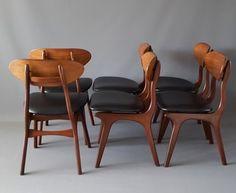Set of 6 Dining Chairs by Louis van Teeffelen for Wébé