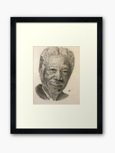 Hand Drawn graphite pencil of Morgan Freeman. Morgan Freeman, Graphite Drawings, Centerpiece Decorations, Artwork Design, Off Colour, Framed Art Prints, Art Reference, Hand Drawn, Original Artwork