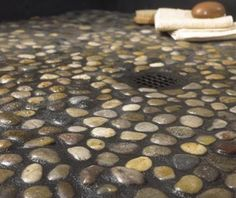Anatolia Rumi 12 in. x 12 in. x 12.7 mm Natural Stone Pebble Mesh-Mounted Mosaic…