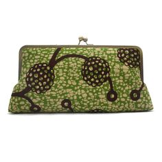 Lime Chocolate Megasnap Printed Clutch  AfricanBags , Nigerian Fashion Accessories Handmade , Urbanknit Ankara