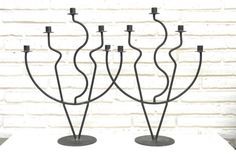 Check out this item in my Etsy shop https://www.etsy.com/listing/517050593/set-of-2-vintage-black-wrought-iron #candelabra #wroughtiron #iron #candleholder #tapercandles #candles #vintagehomedecor #homestager #homeaccents #staging #castiron #vintagedecor #etsy #etsyshop #vintagefurniture #staging
