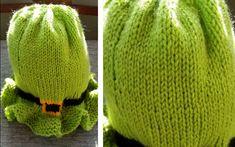 Baby Leprechaun Knitted Hat [FREE Knitting Pattern]