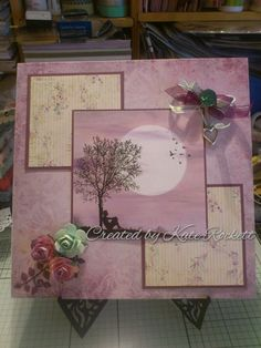 Inkylicious stamp and distress ink - Thinking of You Card