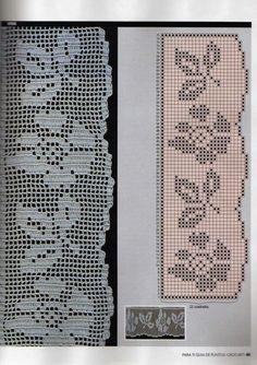 crochet - filet edgings - barrados / bicos filet - Raissa Tavares - Álbuns da web do Picasa