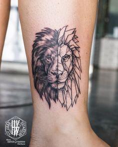 Idée : Lion - Symétrie : poitrine / dos