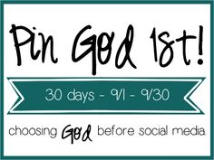 Choose God before social media each day with this easy Pin God 1st Printable.