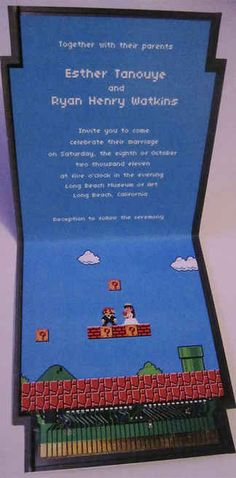 Awesome nerd wedding invitations.