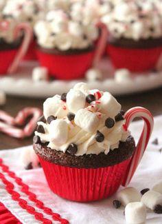 Hot Cocoa Christmas Cupcake Recipe Ideas