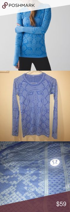 Lululemon Run Swiftly tech long sleeve Tee crew •4 Size 4. Like new. Perfect condition. Will trade for most colors size 6:) lululemon athletica Tops Tees - Long Sleeve