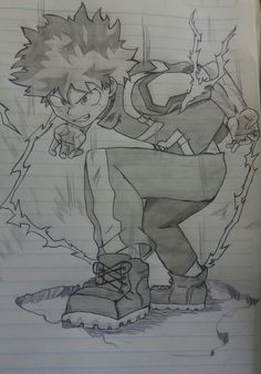 My hero academia collections. Badass Drawings, Cool Art Drawings, Amazing Drawings, Naruto Drawings, Anime Drawings Sketches, Anime Sketch, Art Anime, Manga Art, Anime Character Drawing