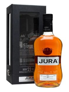 Isle of Jura 21 Year Old : Buy Online - The Whisky Exchange - A continuation on from Jura's 200th anniversary edition, well aged for 21 years and presented in a box with built in display plinth.