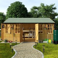 Outdoor HUGE Workshop House Building Outdoor Structure Garden Patio Shed  16x10