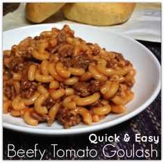 beefy goulash recipe canned tomatoes instead of soup!