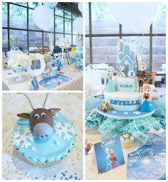 Frozen inspired princess birthday party via Kara's Party Ideas KarasPartyIdeas.com #frozen #frozenparty #princessparty #winterwonderland