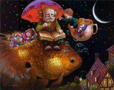 Kings, mermaids and jesters in Victor Nizovtsev's painting ...