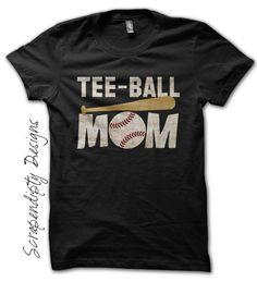 Tball Mom Shirt - Custom Tee Ball Tshirt / Customized Womens Shirt / T-Ball Game Day Outfit / Kids Tball Shirt / Baseball Tee Ball Clothing by Scrapendipitees on Etsy
