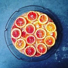 Yesterday we bought 15 lbs of grapefruits and 15 lbs of blood oranges from the farmers market. Fondant Cakes, Cupcake Cakes, Cupcakes, Grapefruit Tart, Recipe For Blood, Shortbread Cake, Orange And Almond Cake, Citrus Cake, Olive Oil Cake