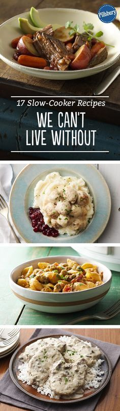 Pillsbury's Top Slow-Cooker Recipes Crock Pot Food, Crockpot Dishes, Crock Pot Slow Cooker, Pressure Cooker Recipes, Crockpot Recipes, Cooking Recipes, Crock Pots, Pressure Cooking, Delicious Recipes